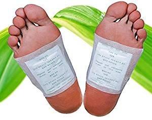 50 Bambus-Pflaster Fuß-Pflaster, Fusspads für die Nacht, Qualitativ hochwertig mit Turmalin und Vitamin-C, 100% natürlich, Fuß-Pads