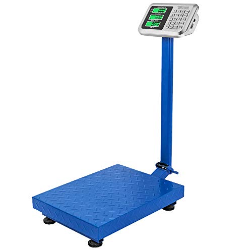 TUFFIOM 661lbs Weight Electronic Platform Scale,Digital Floor Heavy Duty Folding Scales,Stainless Steel High-Definition LCD Display,Perfect for Luggage Shipping Mailing Package Price