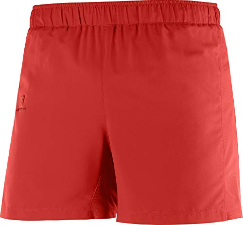 SALOMON Agile 5'' Short M Shorts para Running, Rojo (Goji Berry), Talla S para Hombre