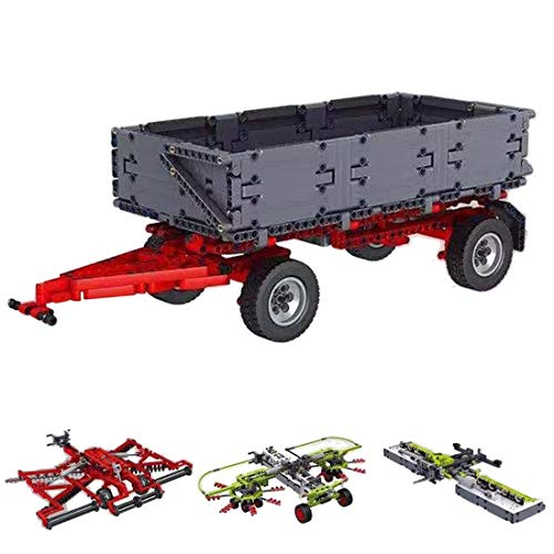 FADY Tractor técnico con remolque, paquete de ampliación de bloques de construcción para tractor compatible con Lego Technic – 3098 piezas
