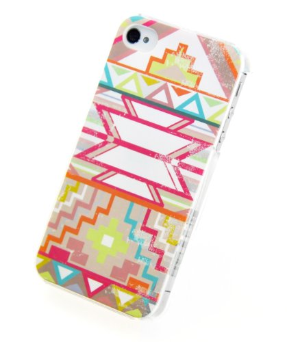 Circle Case-Cover Posteriore Tribale, Vintage, per iPhone 4/4S
