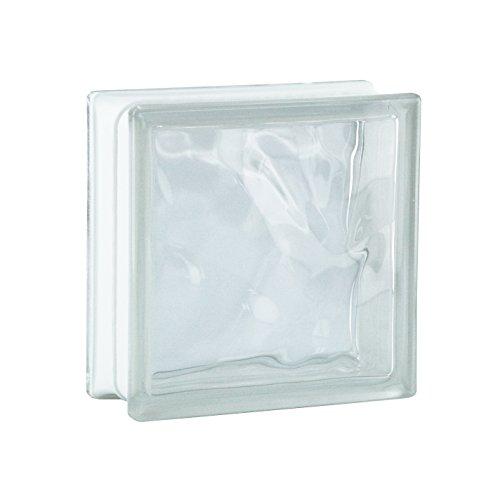 6 Stück BM Glassteine Wolke SUPER White 19x19x8 cm
