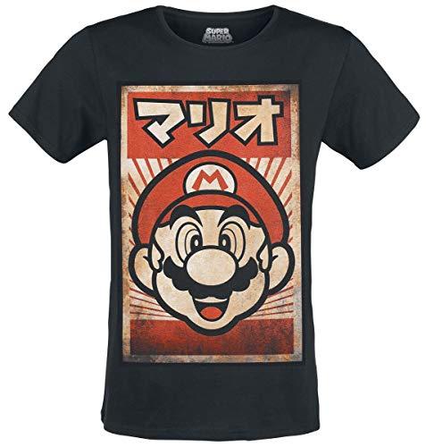 Super Mario Propaganda Mario T-shirt noir XXL
