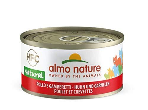 Almo Nature HFC Natural Katzenfutter nass -Huhn und Garnelen 24er Pack (24 x 70g)
