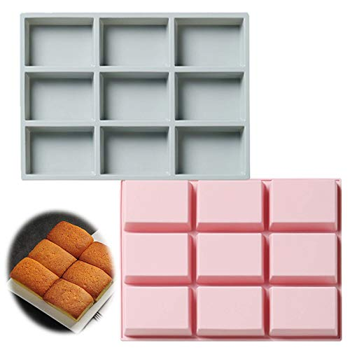 Silicone Bread Mini Loaf Pan Nonstick Baking Toast Molds Value 2 Pack Reusable BPA Free Food Grade Bakeware Pans for Homemade Breads Cakes (2 Pack Mini Loaf Pans in Pink Gray)