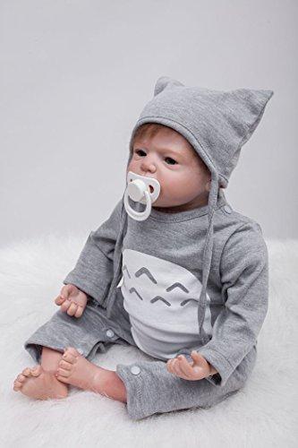 22 Pulgadas 55 Cm Muñecas Reborn Suave Silicona Vinyl Realista Bebé Reborn Niño Reborn Toddlers Regalo Juguetes Reborn Dolls Viene con un Gran Peluche de Pato Amarillo.