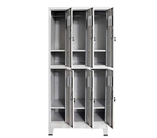 Kleiderschrank mit verschließbarer Tür, Kleiderschrank mit Fächern für Büro, Schule, Kleiderschrank, Fitnessstudio