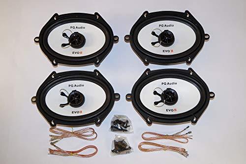 PG Audio 2 paires d'enceintes 5 x 7 (12 x 19 cm), coaxial 2 voies pour modèles Ford suivants