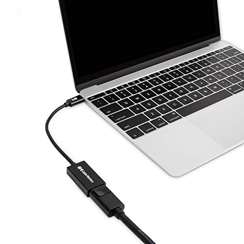 Cable Matters 8K USB C auf DisplayPort Adapter (USB C DisplayPort Adapter) DisplayPort 1.4 für 8K Auflösung - Thunderbolt 3 Port kompatibel für MacBook Pro, Dell XPS 13, 15, Surface Pro 7