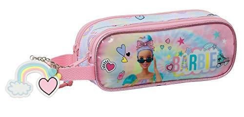 safta 812110513 Portatodo Doble de Barbie Girl Power, 210x60x80mm, multicolor, talla única