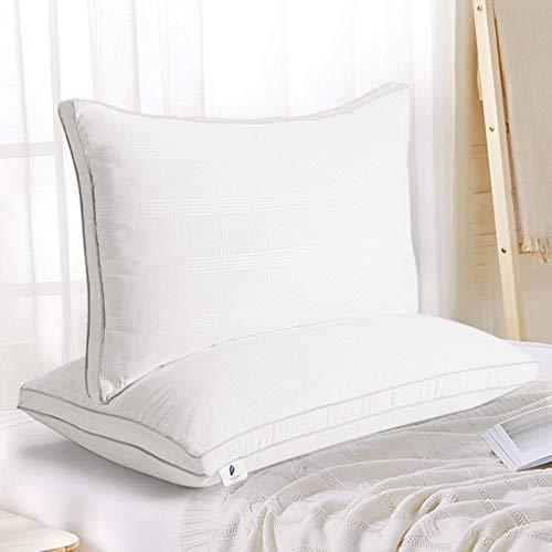 viewstar Cuscini Letto 40x70cm(Set di 2), Guanciale Letto in Coppia, Soffice e Morbido, Cuscino per Dormire in Microfibra, Antiacaro, Lavabile, Traspirante per Sonno Profondo