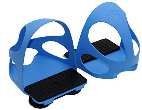 Compositi Steigbügeleinlage mit Durchrutschschutz 1 Paar = 2 Stück für Kinder blau