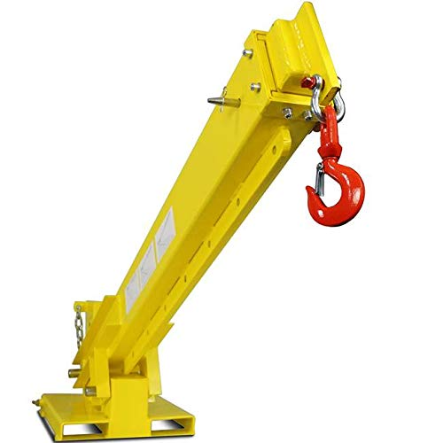 Titan Attachments Crane for Skid Steers Forks and Forklift Extension Jib Boom 6000 lb Capacity 30 in to 138 in