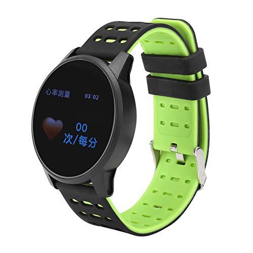 Q-HL Smartwatch Reloj Inteligente Pulsera Inteligente Impermeable Silicone WatchBand Smart Watch con Rastreador De Salud De Ritmo Cardíaco para Mujeres Hombres - Verde