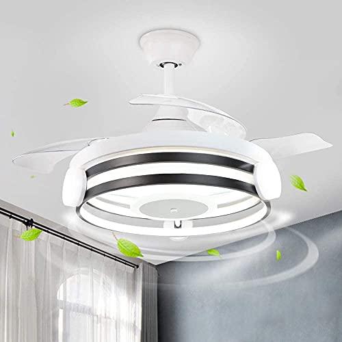 Depuley LED Deckenventilator mit Beleuchtung & Fernbedienung, Einstellbare 3 Geschwindigkeiten, 3 Farbwechsel Dimmbar Lüfter, 30W Licht und 58W Motor mit Timer, Leiser für Wohnzimmer Schlafzimmer