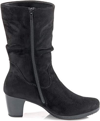 Gabor Adele Womens Suede Calf Length Boots 7 UK/ 40.5 EU Black Micro Suede