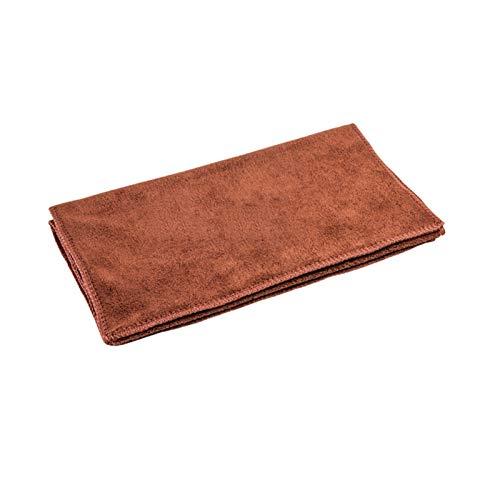 GYLB Toalla de fibra para limpieza de coche, de tela suave, accesorios para peinar (nombre del color: marrón, 1 unidad)