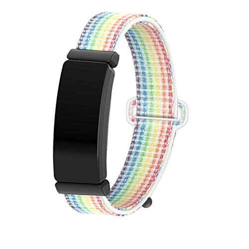 JUN1 Compatible with Fitbit Inspire Fitbit Inspire HR Bands Soft Nylon Sport Wristbands for Men Women Lightweight Replacement Straps Accessories for Fitbit Inspire