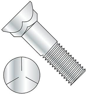 Grade 5 Steel 900 pcs Plow Bolts Plain 3//8-16 X 1-1//4 3 Head Flat Head