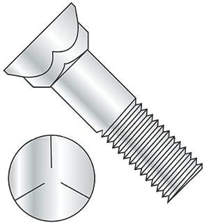 Plain Plow Bolts 3//4-10 X 2-1//2 140 pcs Grade 8 Steel 3 Head Flat Head