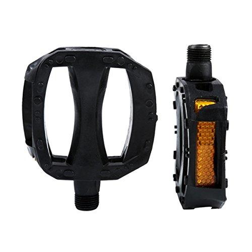 ECYC® Kinder Fahrrad Pedale Ultralight Anti-Rutsch-Kunststoff Mit Sicherheitswarnreflektor, 12mm
