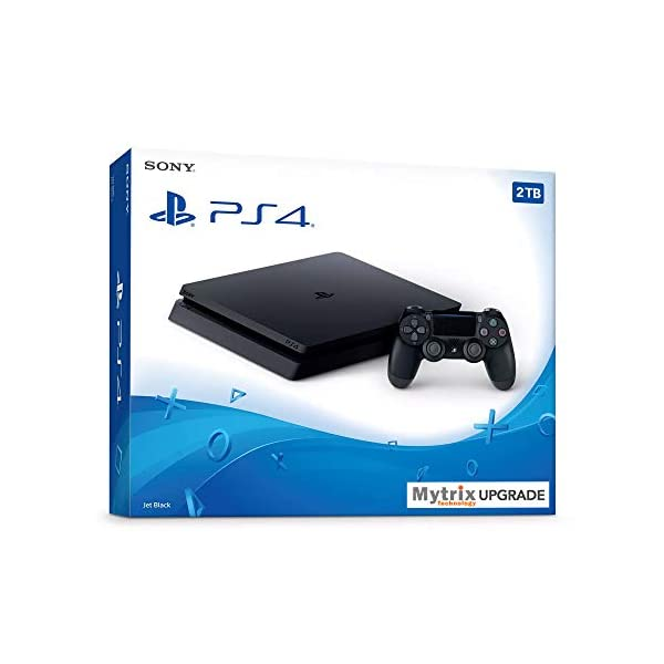 Mytrix Playstation 4 Slim 2TB Console with DualShock 4 Wireless Controller Bundle, Playstation Enhanced by Mytrix