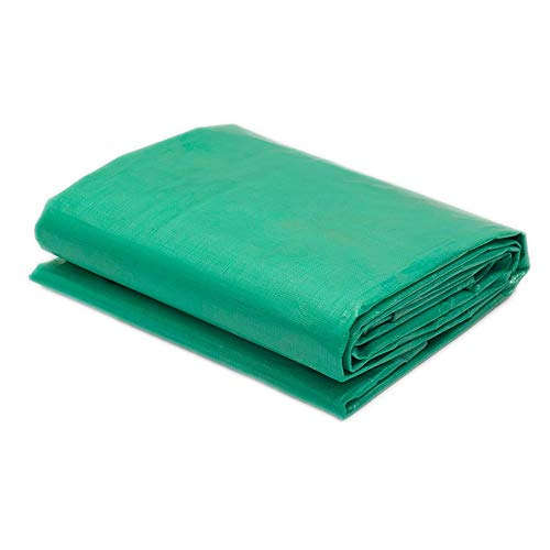 Thicken Tarpaulin Polyethylene Plastic Rainproof Sunshade Shed Cloth Double Fruit Green 180G / M2 (Size : 4x8M) (Size : 5x6M)
