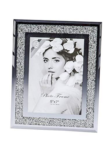 formano Bilderrahmen 13x18 cm mit Strass Diamanten Spiegel Rahmen Fotorahmen Fotohalter Foto Bild