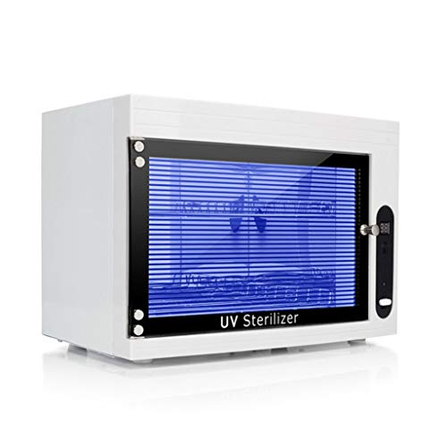 Steriliser 15L Handdoekenkast UV Sterilisator desinfectie Warmer en RVS Dubbele Handdoek Rail voor Gereedschap voor Schoonheidssalon, Spa en Thuis (Towel Cabinet) A