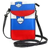 Slowenien-Flagge, Umhängetasche, Handygeldbörse mit Kreditkartenfächern für Frauen