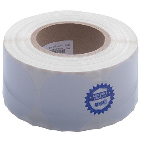 Kenco Premium Inkjet Etiketten für Tintenstrahldrucker, 6,4 cm, rund, hochglänzend Kompatibel mit Primera Color Etikettendruckern und vielen anderen Druckermarken. 1000 Etiketten auf 7,6 cm Kern.