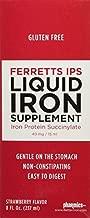 Pharmics - Ferretts IPS Liquid Iron Supplement, Better Tolerability and Absorption- Strawberry Flavor, 8 Ounces