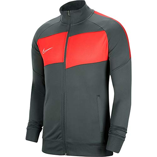 Nike Herren Academy Pro Knit Jacket Trainingsjacke, Anthracite/Bright Crimson/(White), XL