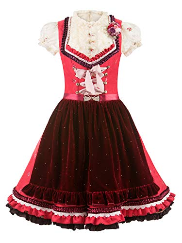 Lola Paltinger Dirndl Tiffany rot-Bordeaux by Couture (rot-Bordeaux, 36)