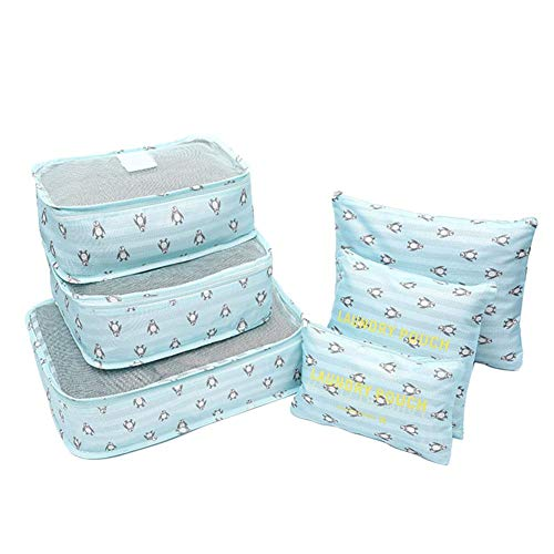 Aimili Packing Cubes for Suitcase,Travel Organiser Packing Bags Travel Packing Cubes Set for Clothes Travel Luggage Organizers Storage Bags Penguin Pattern