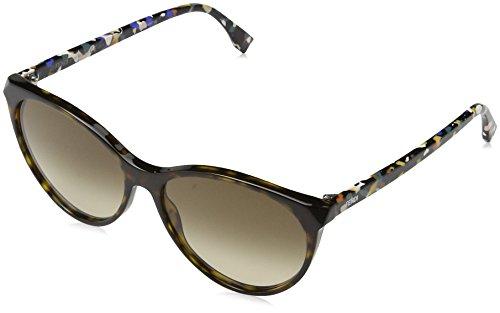 FENDI FF 0170/S CC TTO Gafas de sol, Marrón (Dkhvn Multic/Brown Sf), 57 para Mujer