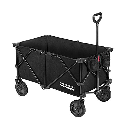 VIVOSUN Heavy Duty Collapsible Folding Wagon Utility Outdoor Camping Beach Cart...
