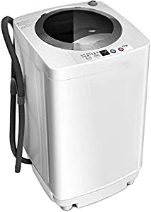 Giantex Compact Full-Automatic Laundry 8 lbs Load Capacity Washing Machine Washer/Spinner W/Drain Pump