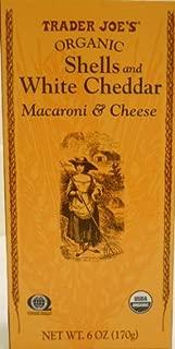 Trader Joe's Organic Shells & White Cheddar Macaroni & Cheese 6oz, 6 Pack