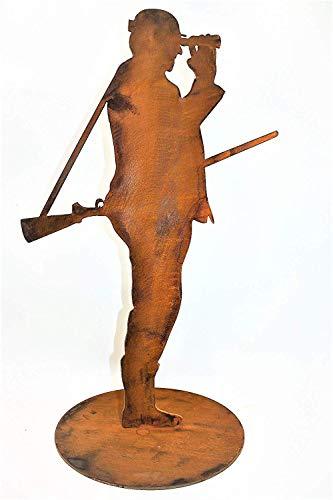 Rostikal | Edelrost Jäger Fritz | Deko Figur aus Metall | 60 cm hoch