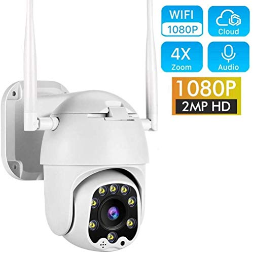 ASDASD Cámara IP WiFi 2MP 1080P Inalámbrico PTZ Speed Dome CCTV Cámara IR Vigilancia de Seguridad al Aire Libre @ 1080P SIN Tarjeta SD_UK Plug