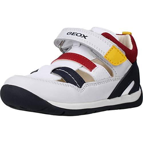 Geox Baby-Jungen B Each Boy A Sneaker, Weiß (White/Navy C0899), 18 EU