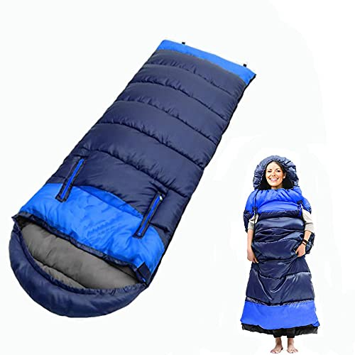 Camping 0 Degree Sleeping Bag - 32℉/0℃ Extreme Winter Wearable Sleeping Bags Warm & Cold Weather – Lightweight Waterproof for Adults & Kids - Backpacking, Traveling, Outdoor and Indoor