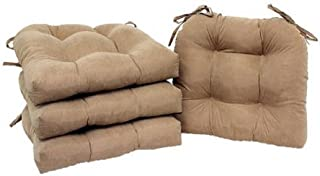 mainstays faux suede chair pad