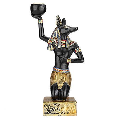 dDanke - Portavelas de estatua egipcia, diseño vintage, ideal como decoración del hogar, Anubis, diosa egipcia o esfinge, polirresina, Anubis