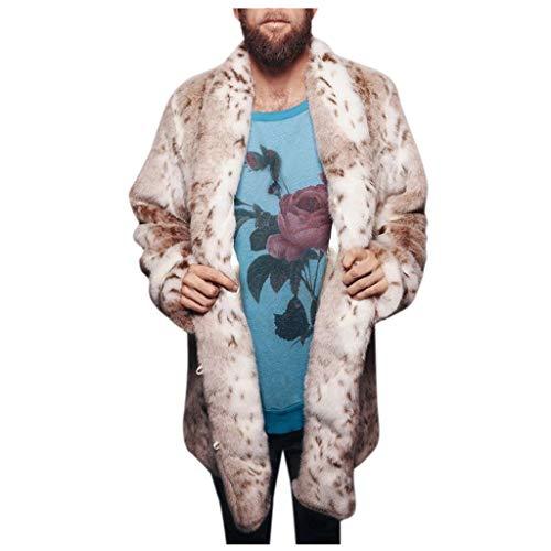 Herren warme kunstpelz Jacke Dicke Mantel Parka Outwear Strickjacke Mantel Faux-Fur Parka Outwear Cardigan Overcoat Outdoorjacke Herbst Winter Kölner Karneval Herrenjacke übergangsjacke CICIYONER