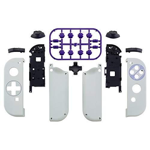 eXtremeRate Gehäuse für Nintendo Switch Joycon,Gehäuse Case Hülle Schale Ersatzteile für Nintendo Switch Joycon Controller&kompletter Satz Taste(D-Pad-Version)-Classics SNES Style-Keine Console Hülle