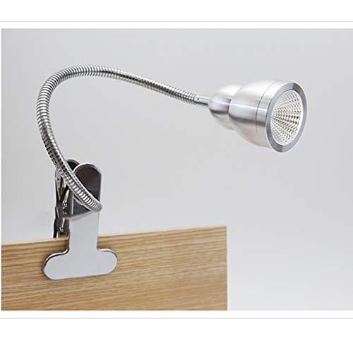 liulishop Lamparas de Mesita Clip LED en la Lectura Light Libro Clip de luz en luz Lámpara de Cama Recargable USB, atenuación Infinita Lámparas de mesilla