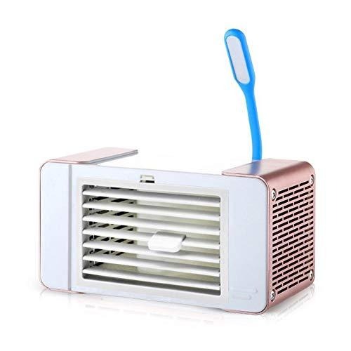 Urisgo Aire Vaporizador Personal, Mini portátil de escritorio, enfriador de aire con luz LED, pequeño aire acondicionado, mini ventilador de refrigeración, para Office Home Outdoor Travel