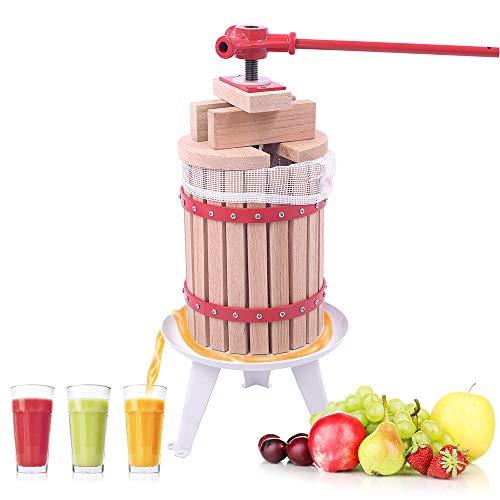 Aufun 6L Obstpresse Fruchtpresse Weinpresse Saftpresse Maischepresse Obstmühle (Obstpresse, 6L)